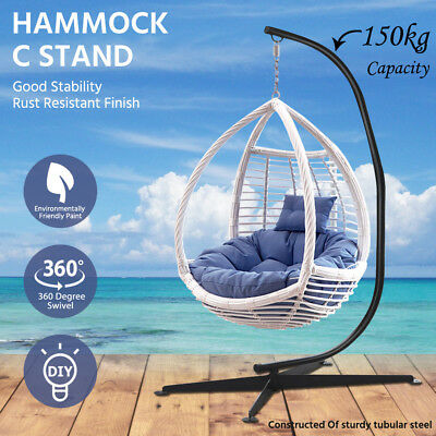 150kg C Hammock Chair Stand Solid Steel Frame Outdoor Heavy Duty