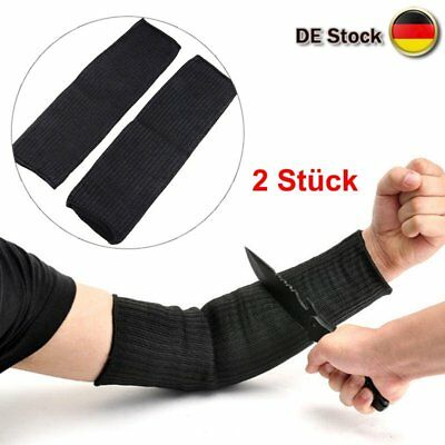 1 Pair Anti Cut Arm Sleeve Safety Guard Hand Protective Bracer Stainless Steel