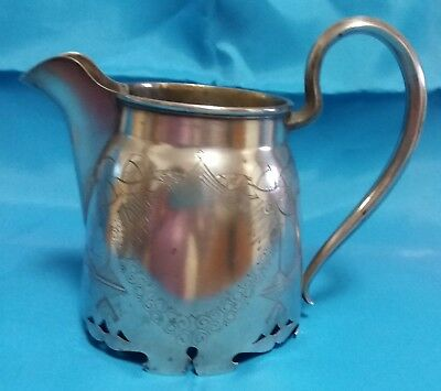 Antique Russian Solid Silver 84 Arts And Crafts Creamer Milk Jug