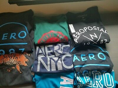 NEW Aeropostale Men/Women Shirts Graphic Tees Lot of 100 RESALE OPPORTUNITY!