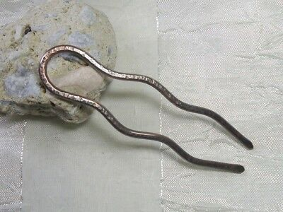 Haarforke / Haargabel, Stab Kupfer,Antique! Haarnadel, Hairpin Neu!