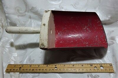 Vintage Antique Primitive RED Metal Wood Grain Scoop Farm Barn General Store