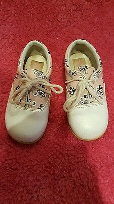 VINTAGE  BABY MINNIE MOUSE Disney baby SADDLE SHOES size 6