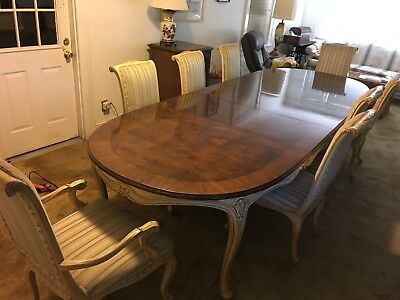Karges French dining table and 8 chairs