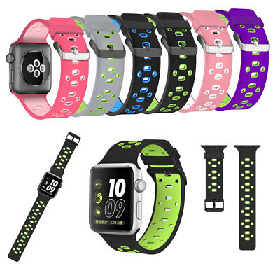 Silicone Sport Strap Replacement Band for Apple iWatch Series 5 4 3 2 1 38-44mm