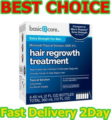Minoxidil Topical Solution USP, 5% Hair Regrowth Treatment for Men 12 FL OZ