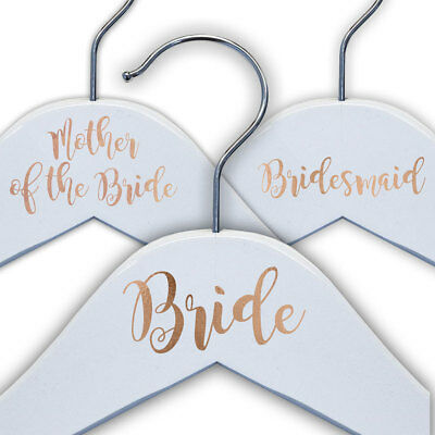 Personalised Rose Gold Vinyl Wedding Coat Hanger Decal Stickers Bridal Party