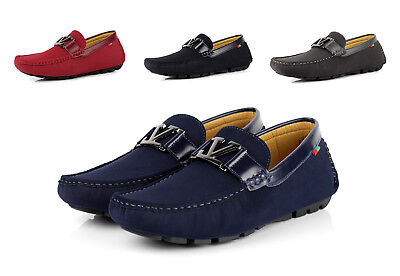 41142917f4b Mens Slip On Designer Loafers Driving Shoes Casual Italian Fashion Moccasin  Size