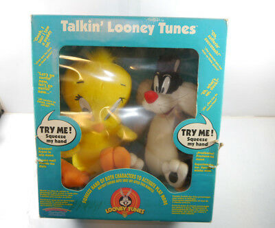 LOONEY TUNES Talkin' Sylvester & Tweety Stofftier plush + Sound PLAY BY PLAY MF6