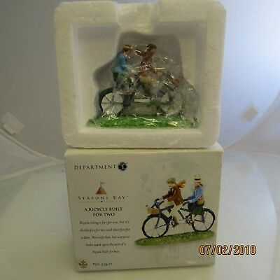 """Department 56 Seasons Bay """"A Bicycle Built for Two"""" #56.53421 1B"""