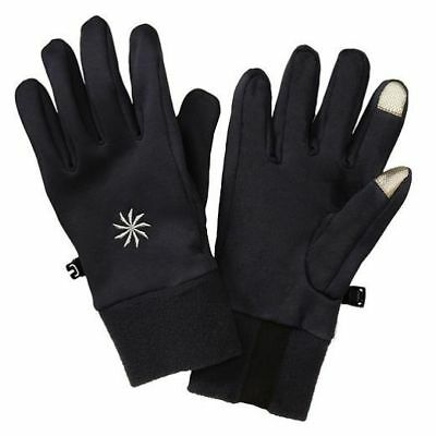 XS SMALL ~ MSRP $39 ATHLETA POLARTEC POWER STRETCH TOUCH BLACK GLOVES SIZE