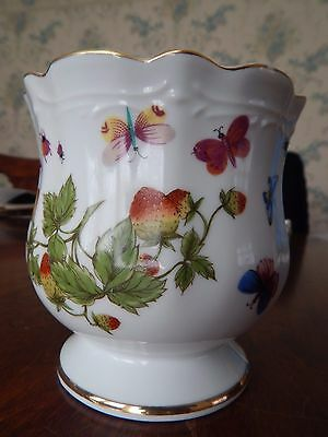 Ardalt Lenwile China Scalloped Dish Bowl Butterflies Hand Painted Japan Vintage