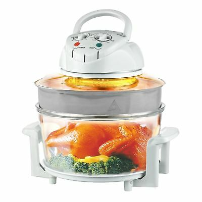 Halogen Oven Kitchen Grill Bake Cook Convection Cooker & Extender Ring 17L 1400W
