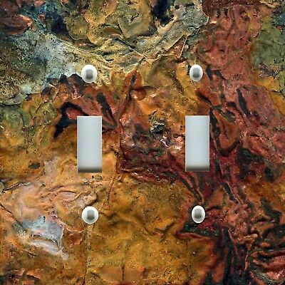 Light Switch Plate Cover RUSTIC HOME DECOR IMAGE OF AGED COPPER BRONZE PATINA 03
