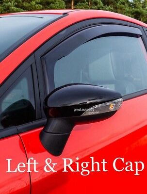 Ford Fiesta 2008-2017 Mk7 Mirror Cap Case Cover Gloss Black Left & Right S ST RS