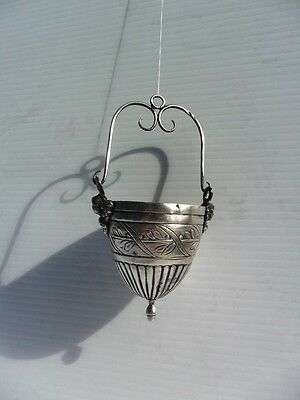 Old Russian Silver Icon Lamp 19th Century
