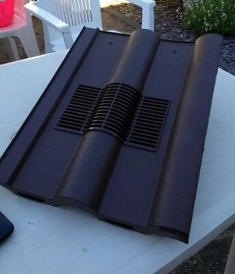 Manthorpe Double Roman Tile Vent with Duct Fixing - Dark Brown