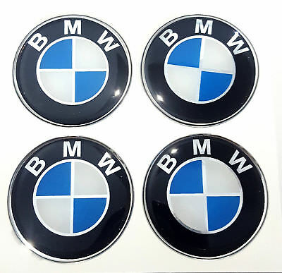 1set BMW Sticker Rasin 70mm. ( 7CM.) Wheel Center Caps Emblem Logo Decal