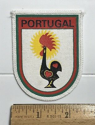 Portugal Rooster of Barcelos Portuguese Souvenir Printed Fabric Patch Badge