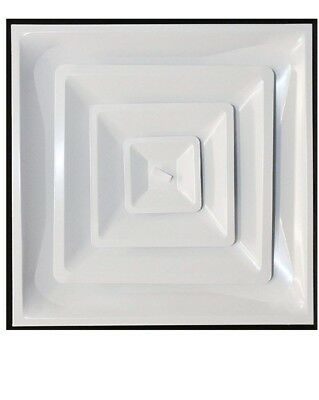 """Drop Ceiling HVAC Supply Grille - For T-Bar Lay-In - 3 Coned - 24"""" x 24"""""""