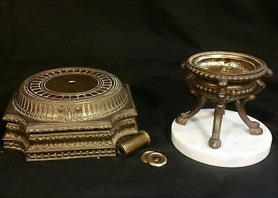 Vintage Hollywood Regency Brass/Bronze Lamp Base with Hoof Footed Urn Lamp Parts
