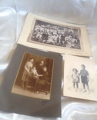 Antique  Vintage Large Photographs And Ephemera Job Lot Of 3 Good Condition