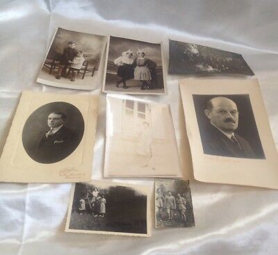 Antique  Vintage Photographs And Ephemera Job Lot Of 8 Good Condition