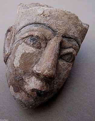 Egypt LIME STONE Pharaoh Bust Head 19th Dynasty Wearing/Upper Crown/Hedjet RARE