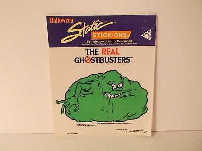 1987 Dakin Halloween Static Stick-Ons Ghostbusters Bloated Slimer Window Cling