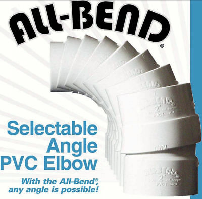 """3""""  3-inch All-Bend selectable variable angle PVC schedule 40 pipe elbow"""