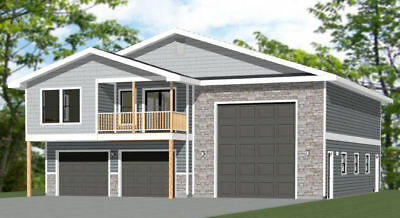 Great 44x48 Apartment With 2 Car 1 RV Garage   PDF FloorPlan   1,645 Sqft