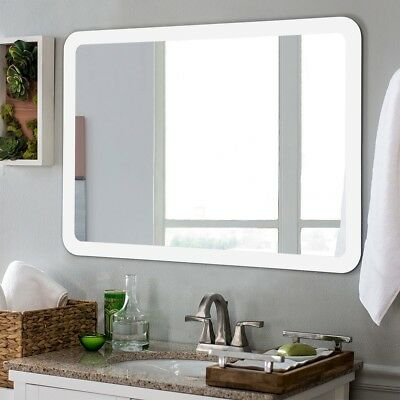 Large Led Lighted Bathroom Mirror Wall Mount Modern W Touch Sensor