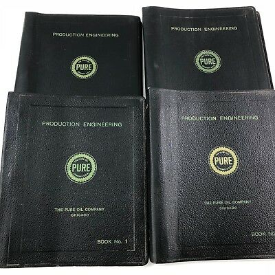 Lot Of 4 Pure Oil Company Chicago Production Engineering Manuals 1950s