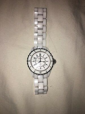 33e507892f58b AUTH CHANEL J12 Automatic 38MM White Ceramic Steel Ladies Watch ...