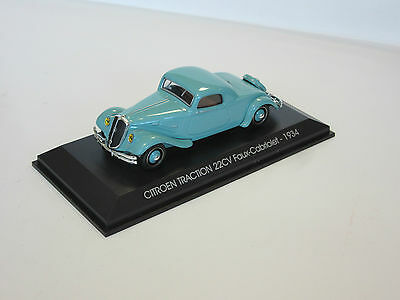 Citroen Traction 22cv coupe 1934 MIB turquise 152007 Norev 1:43 New in a box OVP