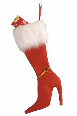 High Heel Christmas Stocking: Red