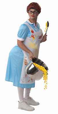Mildred the Lunch Lady Stuffed Costume Dress Adult Standard