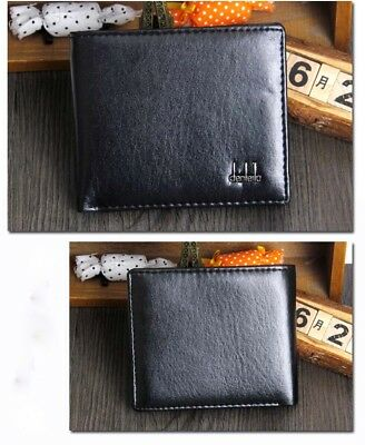 Mens Faux Leather Wallet Pocket Coin Card Money Holder Clutch Bifold Slim Zip