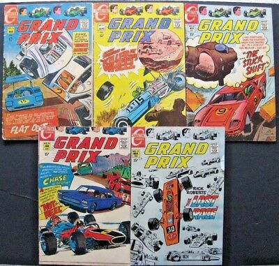 Grand Prix # 24 27 28 29 30 (Lot Of 5) Charlton - Jack Keller - Racing Cars