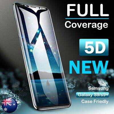 For Samsung Galaxy S9 S8 Plus 5D Full Cover Tempered Glass Screen Protector Film