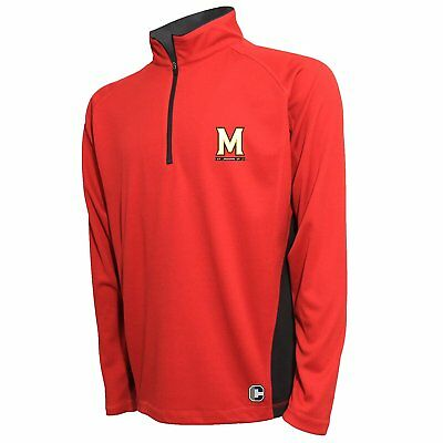 online store ae37f 9ae92 Maryland Terrapins NCAA Men s Textured Quarter Zip Pullover, 2XL, NWT