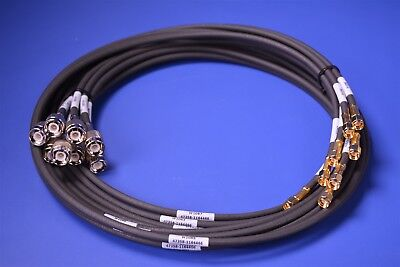 "8 Belden TNC (M) to SMA (M) Connector 9273 RG223/U Adapter Cable 42"" Mil-C-17G"