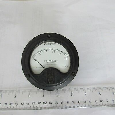 """2//Lot 0-20V /& 0-1A Scales 2-1//2"""" Inch Panel Meter Nice Meter 1mA Movement"""