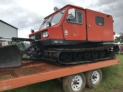 DMC Thiokol LMC 1450 snow cat, Plow, incl Tilt Trailer, New Wide Track see video