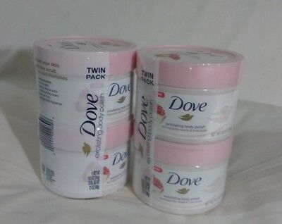 Bundle Twin Pack Dove Exfoliating Body Polish Pomegranate Seed & Sha Butter