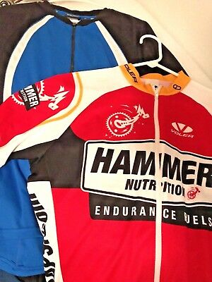 15534a479 Mens Lot 2 Bicycle Cycling Jerseys Fox Voler Extra Large Xl Euc No Reserve  Nr