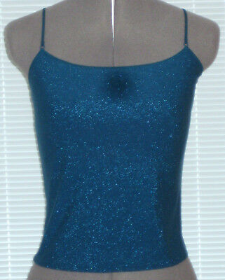 NEW Victoria's Secret Sparkly Metallic Teal/Peacock Camisole, Size S