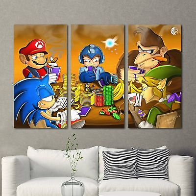 Gaming poker Painting 3PCS HD Canvas Print Home Decor Room Wall Art Picture