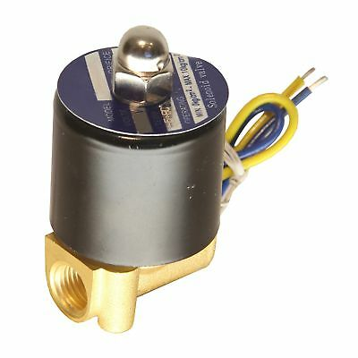 """HFS 110v Ac or 12v Dc Electric Solenoid Valve Water Air Gas, Fuels N/c - 1/4""""..."""