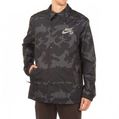 c3c344759a42 Nike SB Coaches Full-zip Thermal Lined Waterproof Jacket Black Mens Size  Small